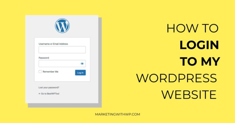 How to login to a WordPress website?