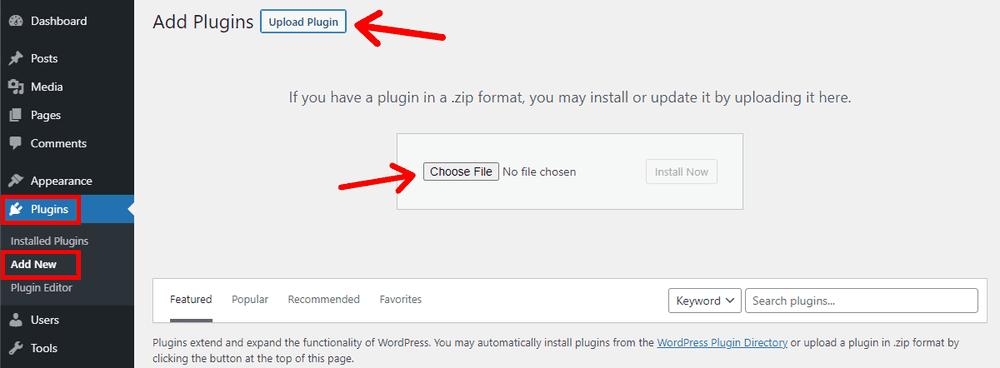 Adding New WordPress Plugin by Uploading from Local Folder