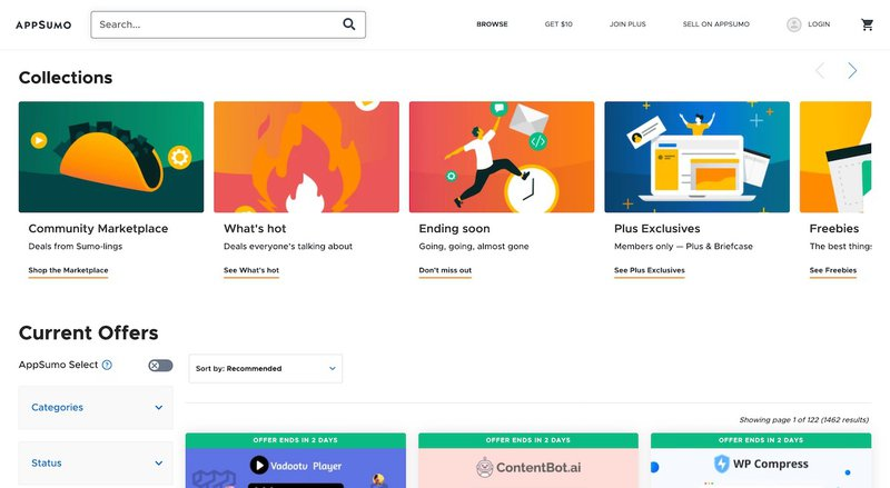 Appsumo Home Page