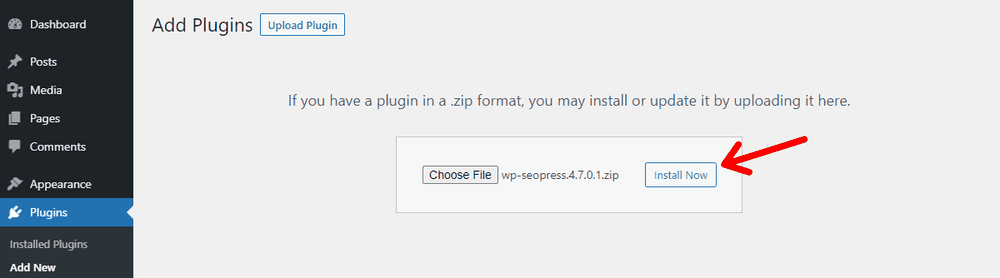 Install the Uploaded WordPress Plugin