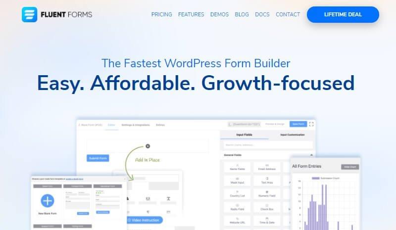 Fluent Forms Form Builder Plugin For WordPress