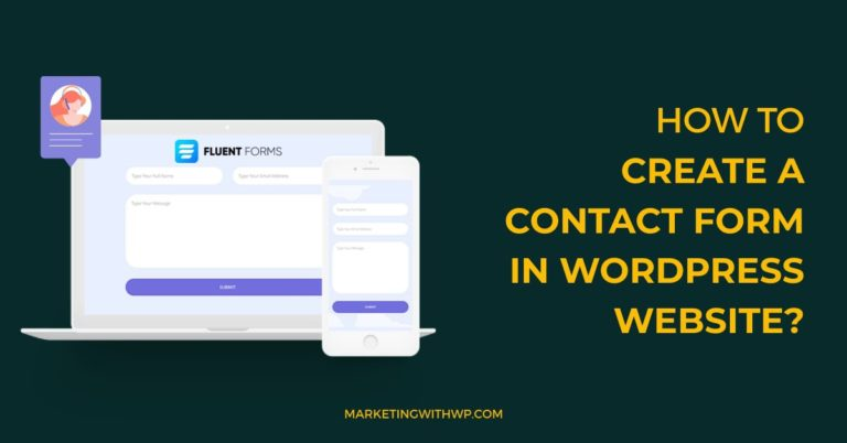 How to create a contact form in WordPress Website?