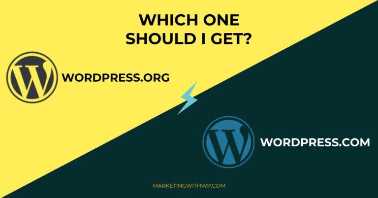 WordPress.org vs WordPress.com? Which one should I build my site on?