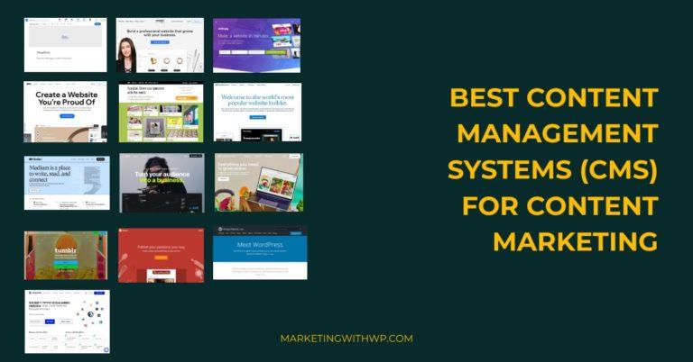 best content marketing cms platforms