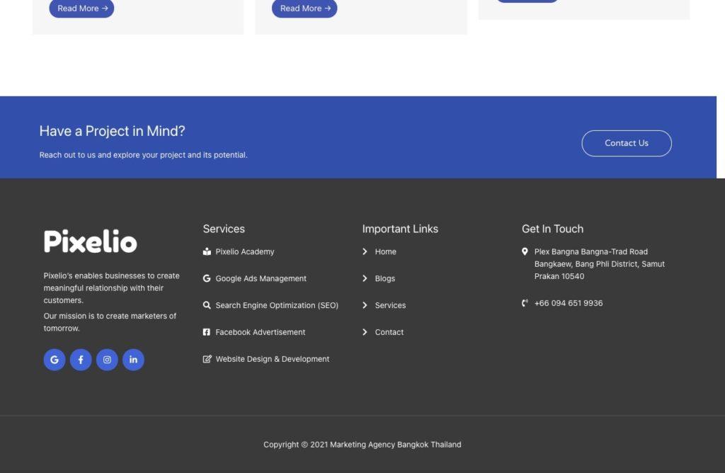 consistent nap of pixelio website audit and analysis