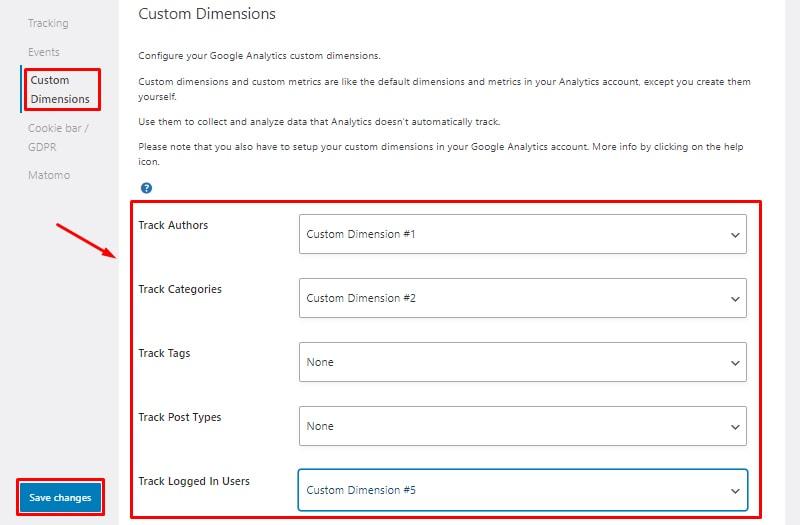 custom dimensions install and setup seopress