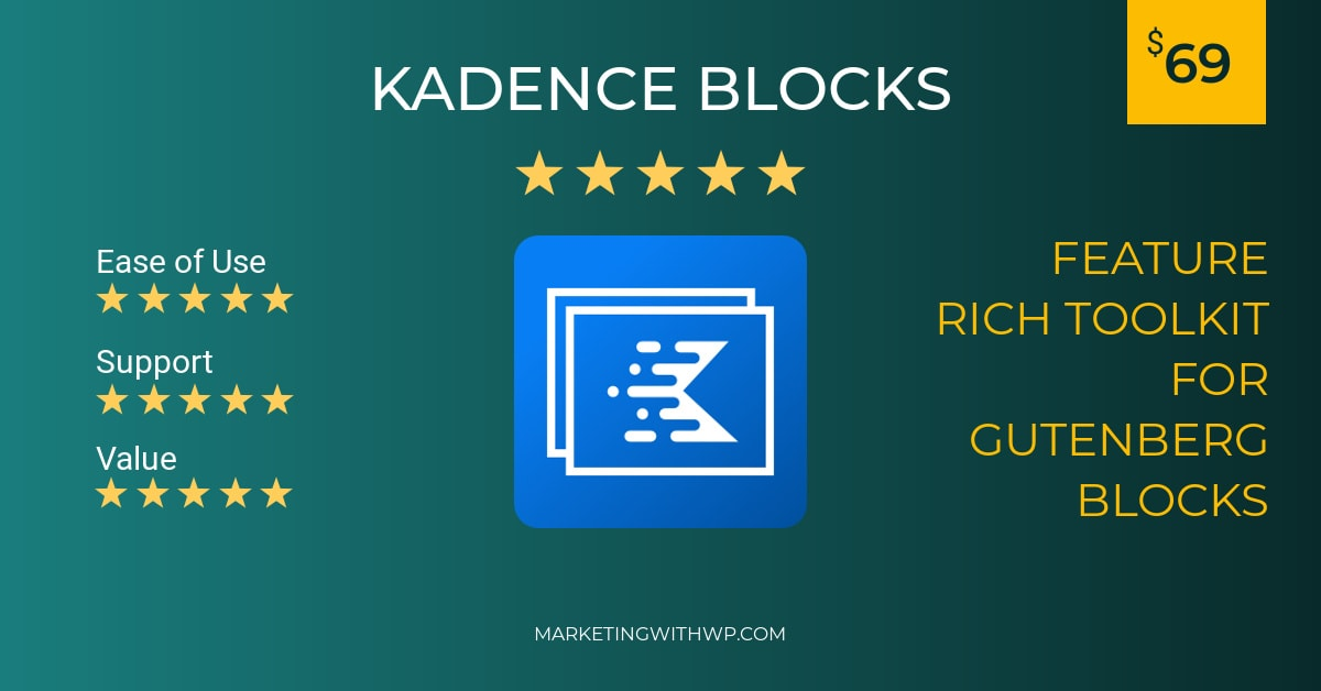 kadence blocks wordpress gutenberg plugin review summary
