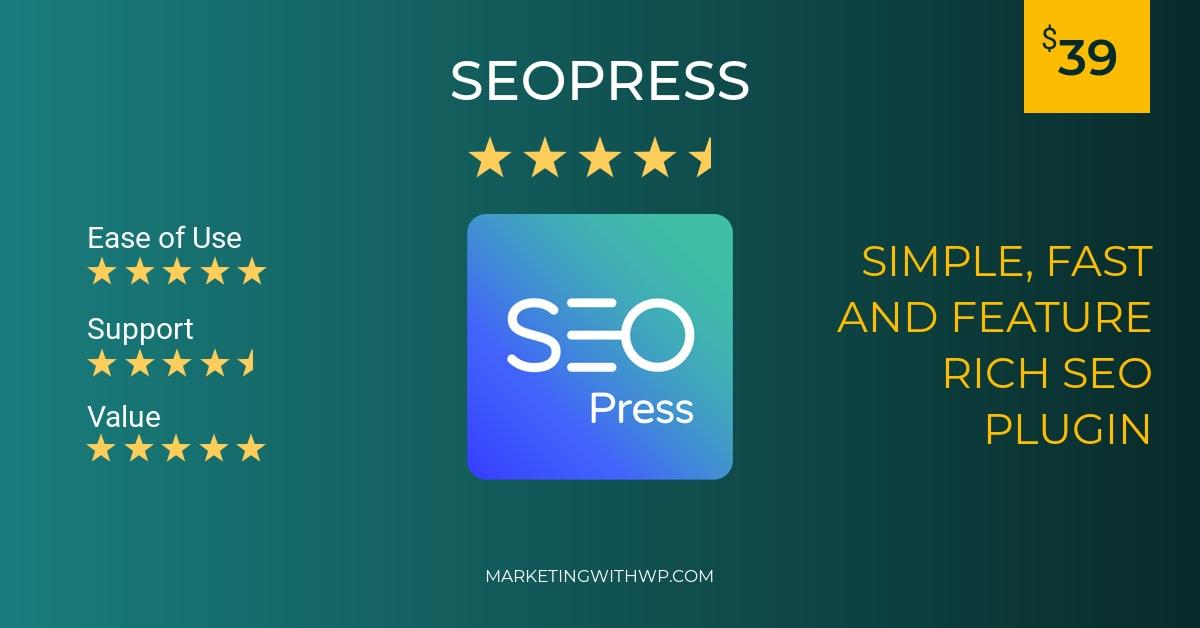 seopress wordpress seo plugin review summary