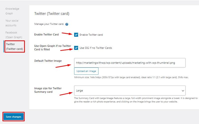 Twitter card install and setup seopress
