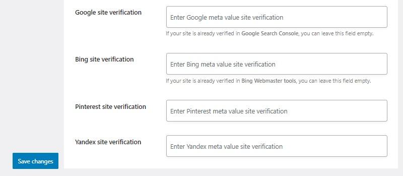 webmaster verification install and setup seopress