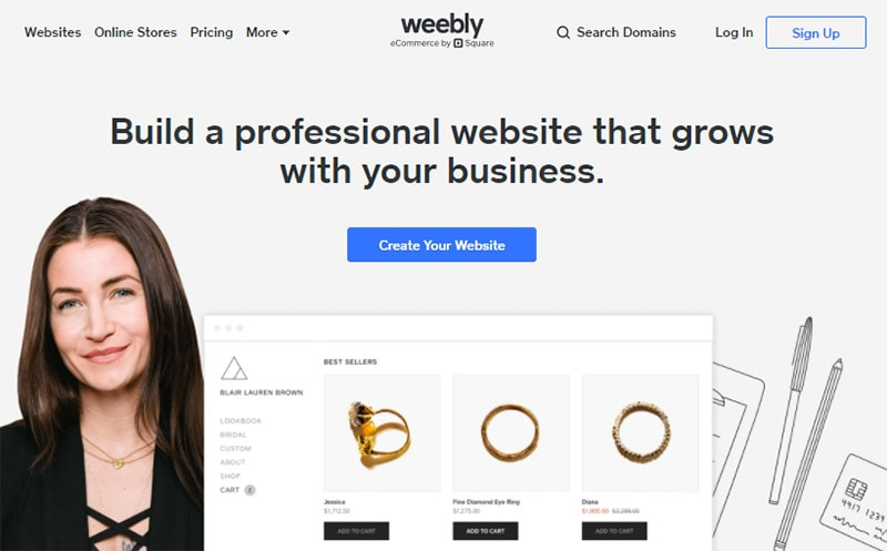weebly best content marketing cms