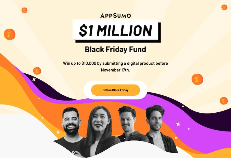 appsumo 1 million dollars black friday fund