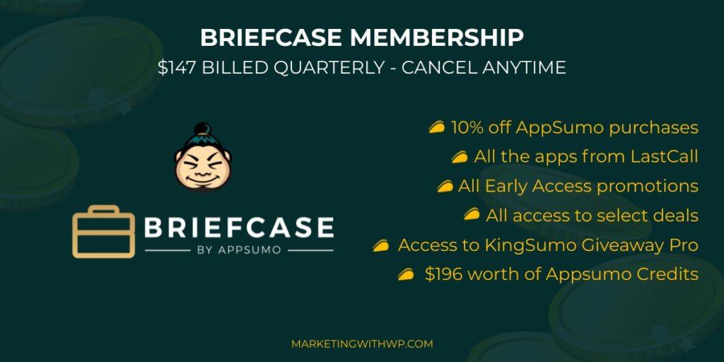 briefcase membership benefits appsumo briefcase