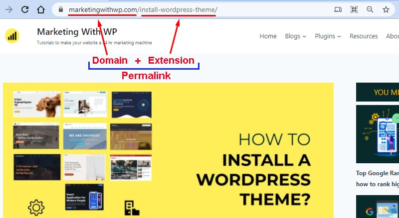 example of wordpress permalink structure